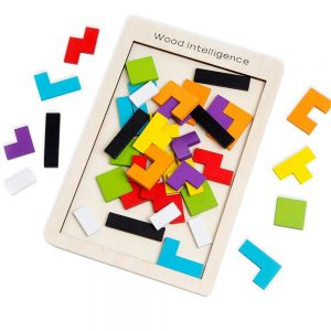Buself Wooden Puzzle Brain Teasers Game and Intelligence Toy