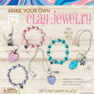 Hapinest Make Your Own Clay Jewelry Arts And Crafts Kit