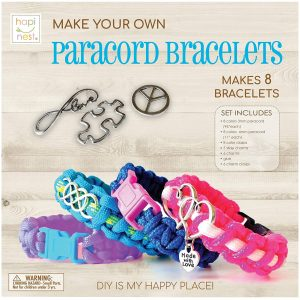Hapinest Make Your Own Paracord Bracelets with Charms Kit Best Gifts For 12-Year-Old Girls