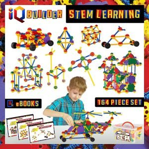 IQ Builder STEM Learning Toy Set Best Christmas Gifts For 7-Year-Old Boys